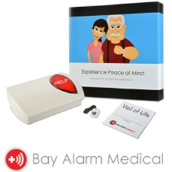 Bay Alarm Medical Review - Medical alert system, base unit, pendant, vial of life