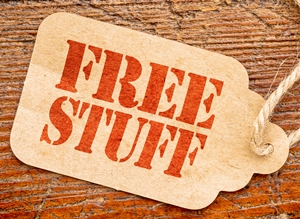 Free stuff and extra goodies are offered with medical alert systems, home security sytems, identity theft protection