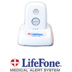 Lifefone - At Home and On The Go Emergency Response GPS Service - GPS device in cradle