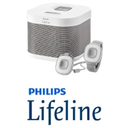 Philips Lifeline - In Home medical alert system - base unit, pendant, wristband