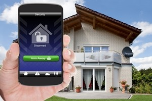 Wireless home security system - smart phone application
