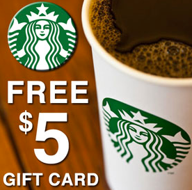 Earn a free $5 Starbucks gift card for submitting a Trustpilot review on our site