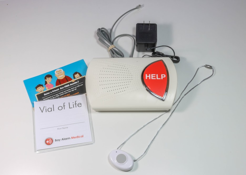 bay alarm medical with fall detection inhome landline