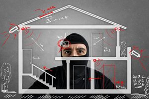 burglar scouting interior of home