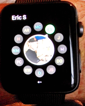 Who do you want to call on the Apple Watch
