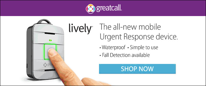 GreatCall Lively, urgent response mobile device, waterproof