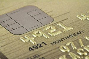 credit card with a security chip